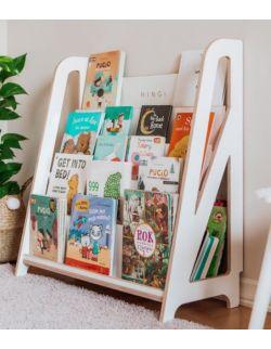 Biblioteczka Montessori – regał na książki dla dzieci HINGI Miru Biały