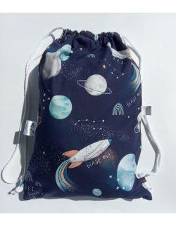 Worek dla przedszkolaka- plecak kosmos