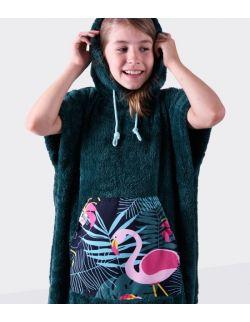 Szlafrok/ poncho , wiek: 7-12 lat, (zielony_flaming Youth Hug)