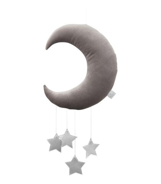 Księżyc dekoracyjny szary