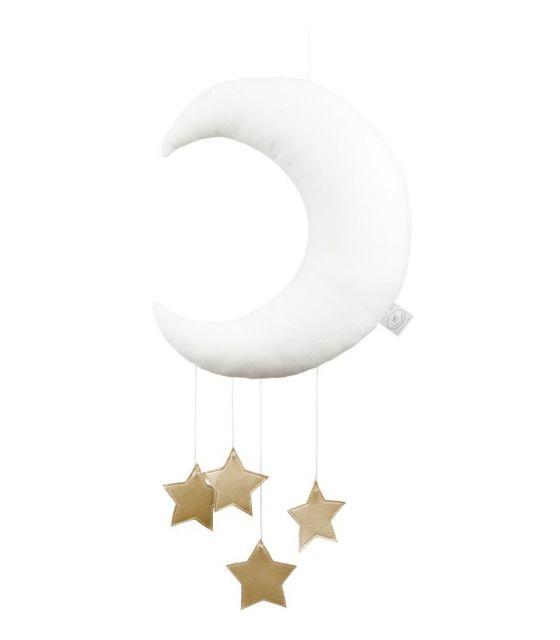 Księżyc dekoracyjny biały