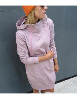 Bluzo-sukienka do karmienia piersią RÓŻ