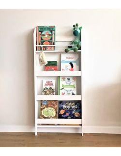 Regał na książki i zabawki simple bielony
