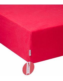 Bawełniane prześcieradło Raspberry Red