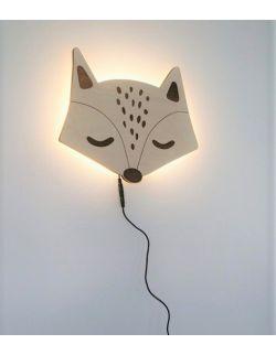 Drewniania lampka lisek