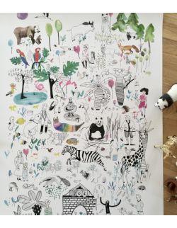 plakat do pokoju dziecka ha! ha! Wyszukiwanki | 50 x 70 | Zoo