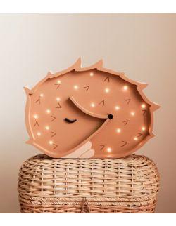 Drewniana lampka Jeżyk