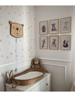 Drewniana lampka niedźwiadek