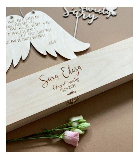 Pudełko na świecę Chrzest Święty