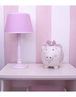 Lampka nocna różowa z białąlamówką