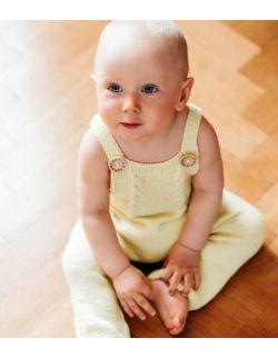 By Royal Baby Wełniany Eko Rampers dziecięcy Handmade Yellow