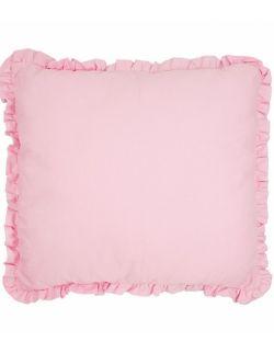 Poduszka z falbaną pudrowy róż 40x40 cm