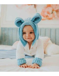 By Royal Baby Miękki Wełniany Ciepły Kombinezon niemowlęcy Handmade