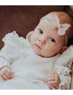 By Royal Baby Elegancka Sukienka dla dziewczynki do chrztu Classic Cream