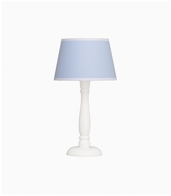 Lampka nocna błękitna z białąlamówką
