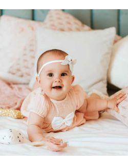 By Royal Baby Elegancka Sukienka z muślinu dla dziewczynki z kokardką Little Princess