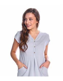 Szara sukienka ciążowa z bawełny organicznej