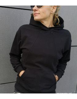Bluza do karmienia piersią BLACK z krytym suwakiem