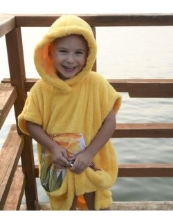 Szlafrok / poncho , wiek: 3-6 lat , ( żółty_liść LIL Hug)