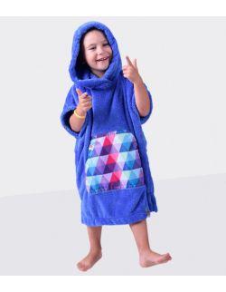 Szlafrok / poncho , wiek: 3-6 lat , ( niebieski_trójkąt LIL Hug)