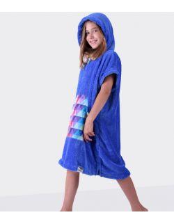 Szlafrok / poncho, wiek: 7-12 lat ( niebieski_trójkąt Youth Hug)