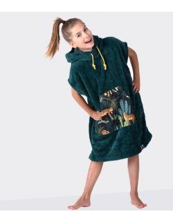 Szlafrok / poncho, wiek: 7-12 lat ( zielony_gepard Youth Hug)