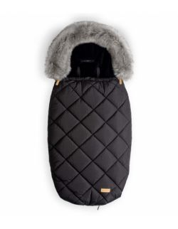 Śpiworek do wózka | Czarny z szarym futerkiem | 5-36 miesięcy – 110 cm L