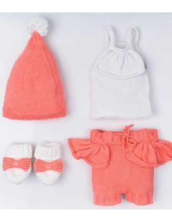 By Royal Baby Komplet wełniany niemowlęcy na prezent Wyprawka Sweet Peach Handmade