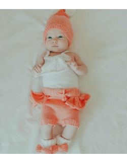 By Royal Baby Komplet niemowlęcy na prezent Sweet Peach Handmade