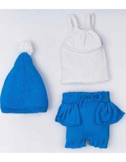 By Royal Baby Komplet wełniany niemowlęcy na prezent wyprawka Blue Sky Handmade