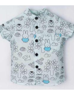 bawełniana niebieska koszula bluzeczka dla chłopca
