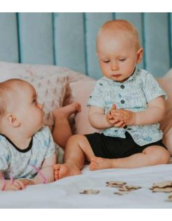 By Royal Baby Koszula/Bluzeczka dla chłopca Zajączki