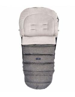 Regulowany śpiworek iGrow do wózka i fotelika z pluszem - melanż szary