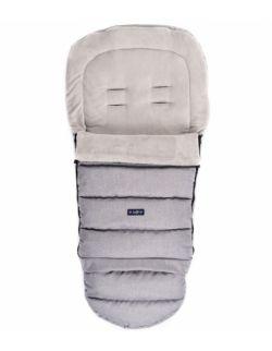 Regulowany śpiworek iGrow do wózka i fotelika z pluszem - melanż jasnoszary