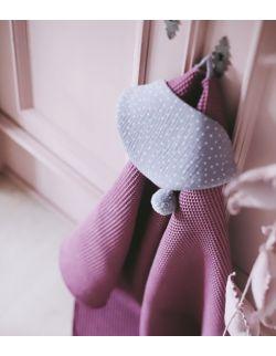 Ręcznik wafelek bawełniany z kapturkiem jagodowy