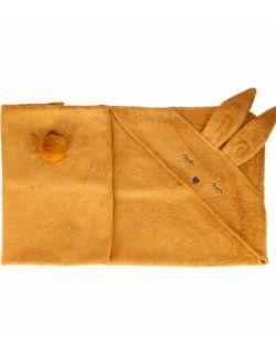 Bambusowy ręcznik króliczek musztardowy