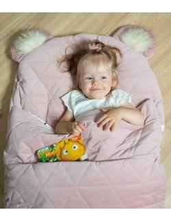 Różowy śpiworek dla dziewczynki do około 135 cm wzrostu