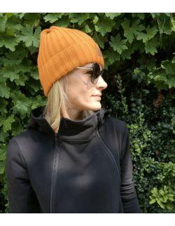 Zestaw czapek dla mamy i dziecka sky orange