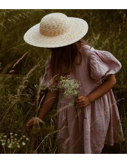 diewczęca sukienka z muślinu z bufkami