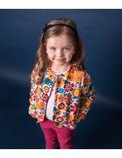 Bluza dwustronna - kwiaty/sangria