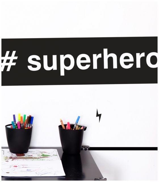 SUPERHERO naklejka ścienna 95 x 26 cm