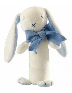 Króliczek Oscar zestaw prezentowy z 100% certyfikowanej bawełny organicznej body Lait Baby i grzechotka Maud N Lil- 6 mcy