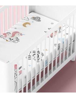 Prześcieradło bawełniane do łóżeczka Little Princess