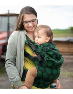nosidełko multi grow : dots green, 100 % bawełna, żakard