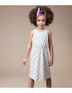 Sukienka dla dziewczynki piórka