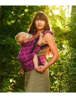 nosidełko multi grow : dots pink, 100 % bawełna, żakard