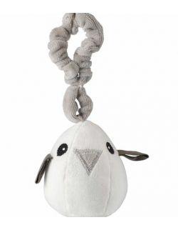 Grey birds zestaw prezentowy z 100% certyfikowanej bawełny organicznej body Lait Baby i grzechotka Maud N Lil- 3 mce
