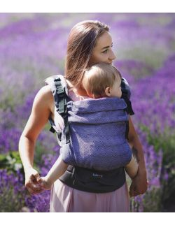 nosidełko multi grow : diamond lavender, bawełna, żakard
