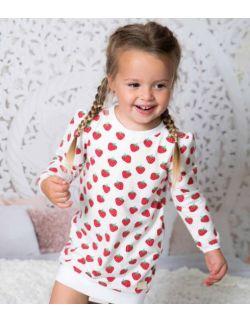 By Royal Baby sportowa sukienka/bluza dla dziewczynki strawberry dream