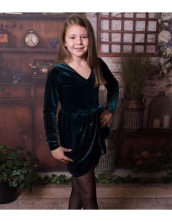 Luna aksamitna elegancka sukienka dla dziewczynki wesele komunia